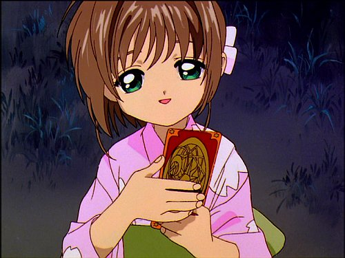 Card Captor Sakura episode 18 - Sakura in Yukata, captured the Glow